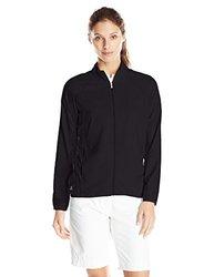 adidas Golf Women's Essentials Full Zip Wind Jacket, Black/Black, Small