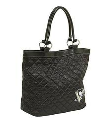 Littlearth NHL Pittsburgh Penguins Quilted Tote - Black