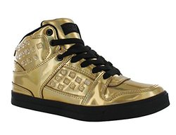 Gotta Flurt Hip Hop HD III Girls' Mid-Top Sneakers - Gold/Black - Size: 13
