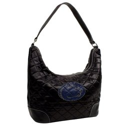 Little Earth NCAA Penn Nittany Lion Quilted Hobo Purse - Black - Size: One