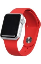 Silicone Sport Apple Watch Leather Replacement Band for 38mm - Red