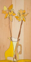 GreenBox Art & Culture Canvas Wall Art Two Daffs by Jennifer Mercede