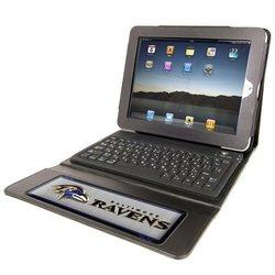 NFL Baltimore Ravens Team Promark Executive iPad Case with Keyboard
