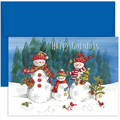 Masterpiece Studios Holiday Collection Snow Family Greetings, 18 Cards/Envelopes (864100)