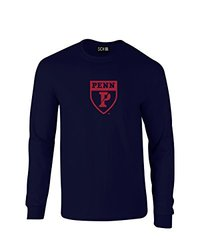 SDI NCAA Men's Mascot Foil Long Sleeve T-Shirt - Navy - Medium