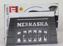 Henson Metal Works University of Nebraska Stadium Gate Magazine Holder