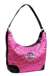 NBA Detroit Pistons Pink Quilted Hobo