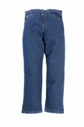 LAPCO P-IND-40X38 13-Ounce 100-Percent Cotton Flame Resistant Denim Jean Blue, 40x38 Inch