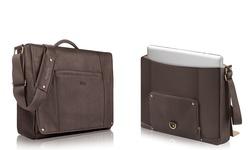 "Solo Full Grain Leather 16"" Executive Messenger Bag - Deep Espresso"