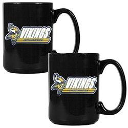 NFL Minnesota Vikings Two Piece Black Ceramic Mug Set