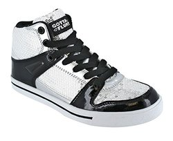 Gotta Flurt 3/4 Top Sneaker, Silver/Black, 1
