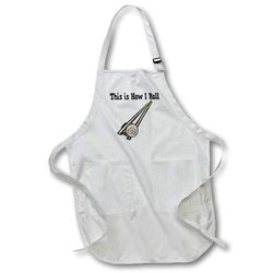 This is How I Roll Sushi Rice Roll - Medium Length Apron, 22 by 24-Inch, with Pouch Pockets (apr_102541_2)