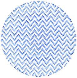 "Shiraleah Chevron Dinner Plate - Blue - Size: 11"""