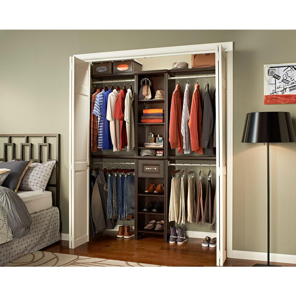 Bon Chocolate Narrow Closet Kit ClosetMaid Impressions 16 In. Chocolate Narrow  Closet Kit ...
