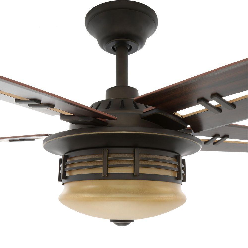 """New 52 3 Light Bronze Indoor Ceiling Fan Best Price: Hampton Bay Pendleton 52"""" Indoor Ceiling Fan"""