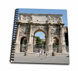 "3dRose Arch of Constantine Prisma Memory Book - Size: 12"" x 12"""