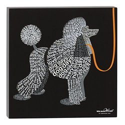 Enesco Wild About Words Poodle Wall Decor, 12""