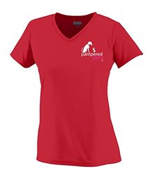 Pampered Pets Women's Augusta Wicking T-Shirt - Red - Size: X-Large