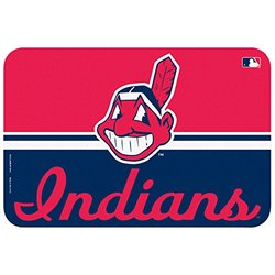 MLB Cleveland Indians Mat, Small/20 x 30-Inch, White