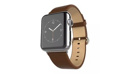 Waloo Leather Grain Apple Watch Replacement Band - Brown - Size: 38mm