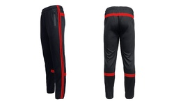 Harvic Men's Striped Jogger Training Pants - Black Red - Size: XLarge