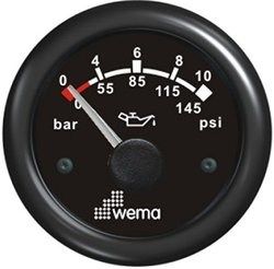 WEMA USA IPPR-BB 0-10 bar Oil Pressure Gauges