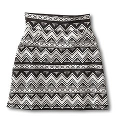 KAVU Women's Paulina Skirt - BW Chevron - Size: Medium