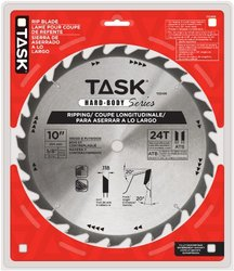 "Task Tools T22435 10"" 24T ATB Hard Body Ripping Blade with 5/8-inch Arbor"
