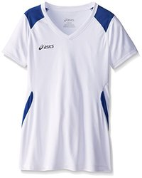 ASICS Girl's Junior Set Jersey, White/Royal, Large