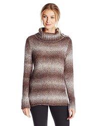 White Sierra Women's Back Roads Mock Sweater, Chestnut, X-Large
