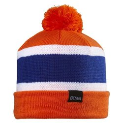 Chaos Football Striped Convertible Slouch Beanie, Orange, One Size