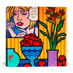 "iCanvasART 12""x12 Homage to Lichtenstein by John Nolan Canvas Print"