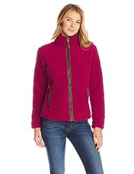 White Sierra Women's Wooly Bully Zip Jacket - Beet Red - Size: Small