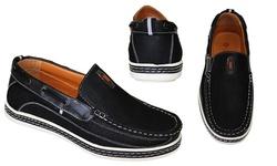 Frenchic Men's Slip-On Loafers - Black - Size: 13
