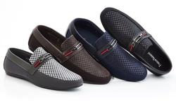 Franco Vanucci Roberto Men's Driver Shoes - Navy - Size: 9.5