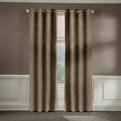 Veratex American Collection Velvet Soft Luxury Curtain Pebble