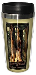 Tree-Free Greetings sg23258 Vintage Giant Sequoia National Monument by Paul A. Lanquist Stainless Steel Sip 'N Go Travel Tumbler, 16-Ounce