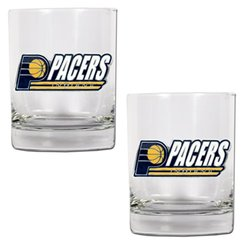 NBA Indiana Pacers Two Piece Rocks Glass Set