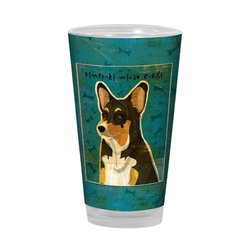 Tree-Free Greetings PG03043 John W. Golden Artful Alehouse Pint Glass, 16-Ounce, Tri-Color Pembroke Welsh Corgi