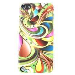 Cell Armor Hybrid Protector Case for iPod Touch 5 - Colorful Swirl Pattern