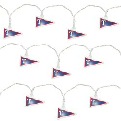 Topperscot MLB Texas Rangers LED Pennant Party Lights - White