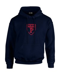 SDI NCAA Pennsylvania Quakers Mascot Foil Hoodie - Navy - Size: XX-Large