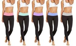 Women's Tummy Control Leggings - Black - Size: L/XL - 5-Pack
