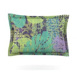 "Kess InHouse 40""x20"" Verdure Collage Pillow Sham - Green Teal - Size: K"