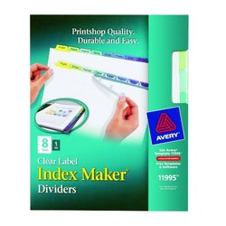 Avery Index Maker Clear Label Dividers, 8-tab Set (11995)
