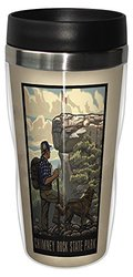 Tree-Free Greetings sg23263 Vintage Chimney Rock State Park Hiking by Paul A. Lanquist Stainless Steel Sip 'N Go Travel Tumbler, 16-Ounce, Multicolored