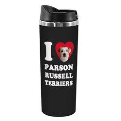 """Tree-Free Greetings """"Russell Terriers"""" 14-oz Stainless Steel Tumbler"""
