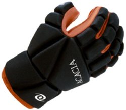 ACACIA Titan Broomball Gloves, Black/Orange, X-Small