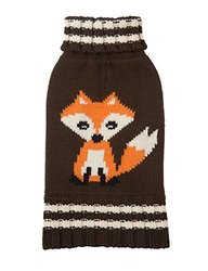 "Fab Dog Knit Turtleneck Dog Sweater Fox - Olive - 20"" Length"