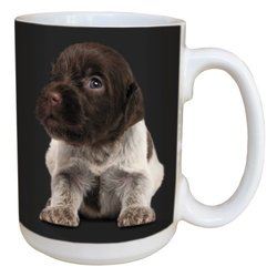 Tree Free Greetings LM45143 I Heart Wirehaired Pointing Griffons Ceramic Mug with Full-Sized Handle, 15-Ounce